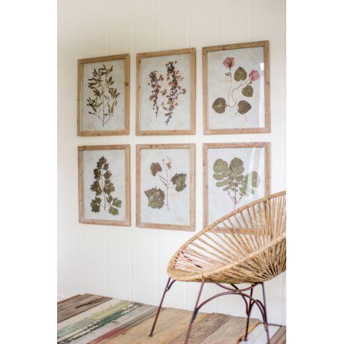 Leaf Prints Under Glass Set of 6