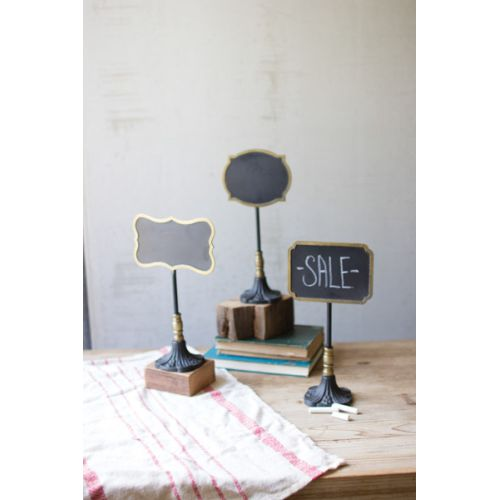 Chalk Boards On Stands - One Each Design Set of 3