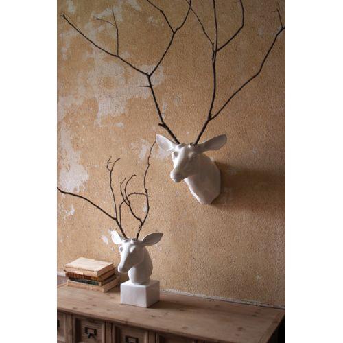 Table Top Ceramic Deer Head