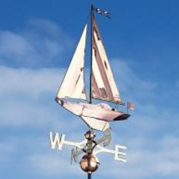Copper Sailboat Weathervane Large