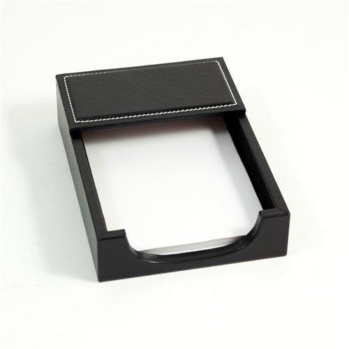 Black Leather 4x6 Memo Holder