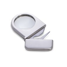 Stainless Steel Magnifier with Letter Opener