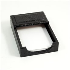 Black Croco Leather 4x6 Memo Holder