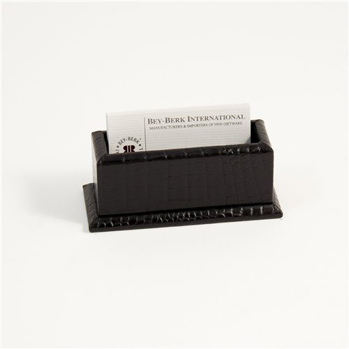 Black Croco Leather Business Card Holder