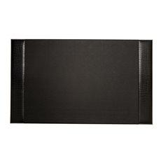 Black Croco Leather 20x34 Desk Pad