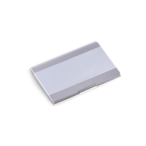 Nickel Plated Business Card Case with Satin Trim
