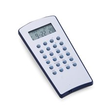 Stainless Steel with Blue Trim World Time Alarm Clock and Calculator