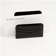 Black Leather Letter Rack