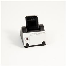 Black Leather Mobile Phone and Business Card Holder