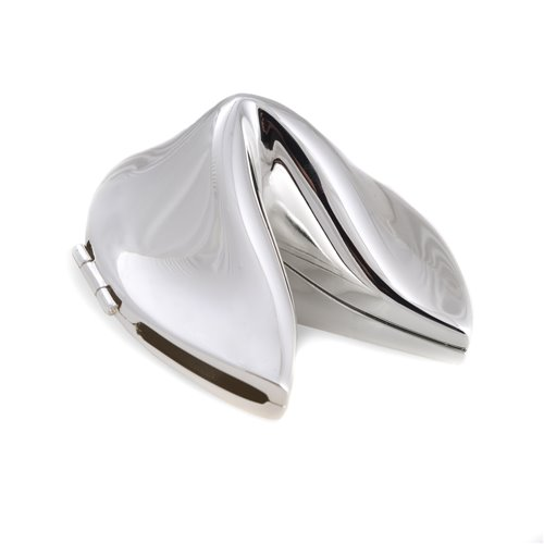 Silver Plated Fortune Cookie Box