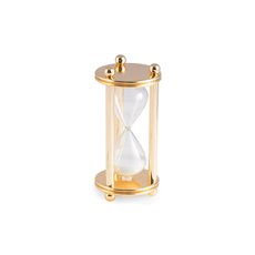 Gold Plated 5 Minute Sand Timer