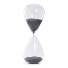 90 Minute Crystal Sand Timer with Black Sand