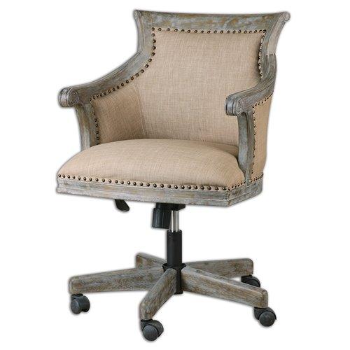 Uttermost Kimalina Linen Accent Chair