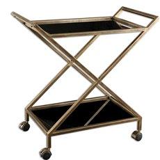 Uttermost Zafina Gold Bar Cart