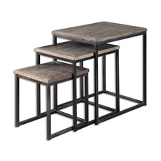 Uttermost Bomani Wood Nesting Tables Set/3