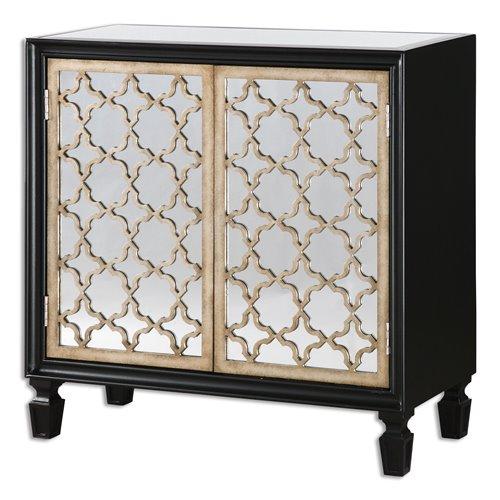 Uttermost Franzea Mirrored Console Cabinet