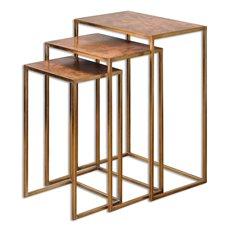 Uttermost Copres Oxidized Nesting Tables Set/3