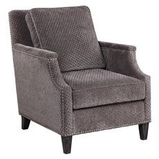 Uttermost Dallen Pewter Gray Accent Chair