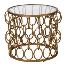 Uttermost Dipali Gold Accent Table