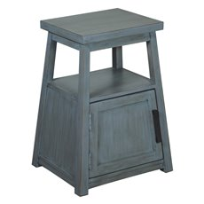 Uttermost Cora Blue Wash Accent Table