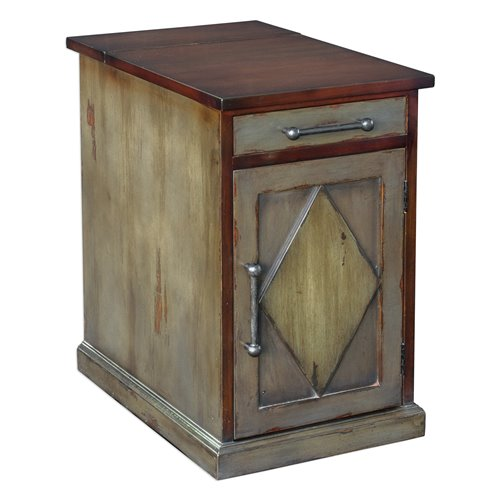 Uttermost Charcoal Breccan End Table