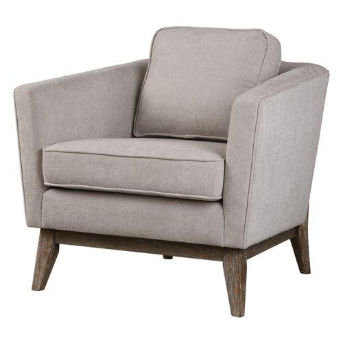 Uttermost Varner Beige Linen Accent Chair