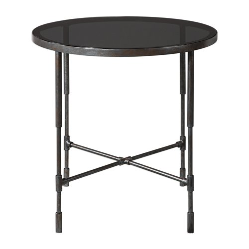 Uttermost Vande Aged Steel Accent Table
