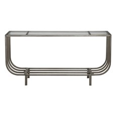 Uttermost Arlice Bright Silver Console Table