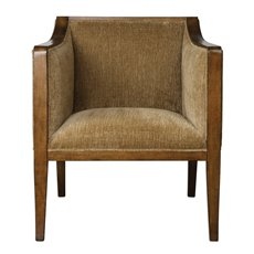 Uttermost Milson Caramel Fabric Club Chair