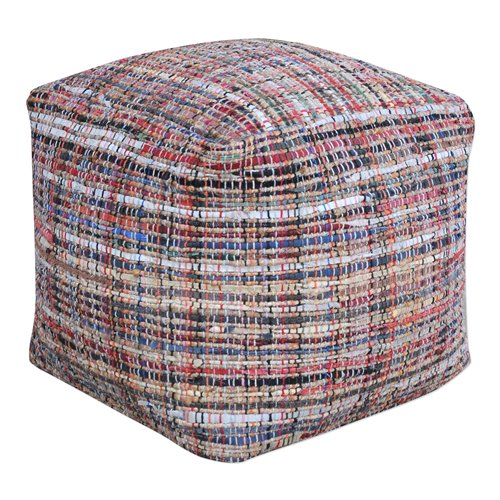 Uttermost Nyala Multi Colored Pouf
