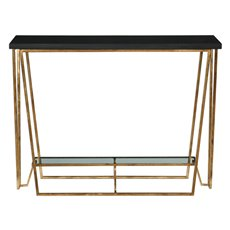 Uttermost Agnes Black Granite Console Table