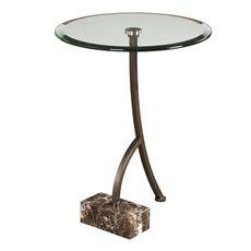 Uttermost Levi Round Bronze Accent Table