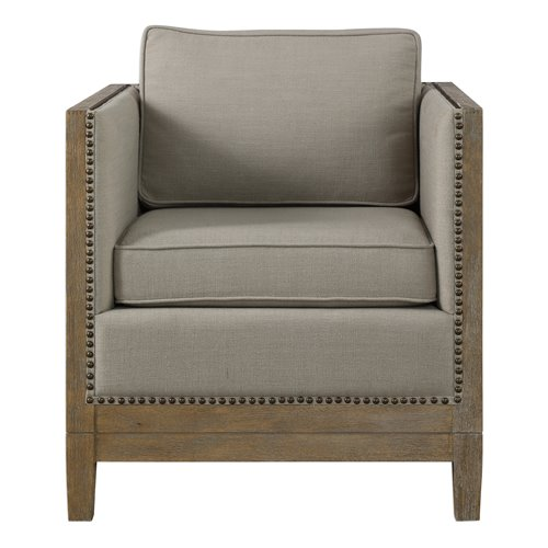 Uttermost Kyle Weathered Oak Accent Chair