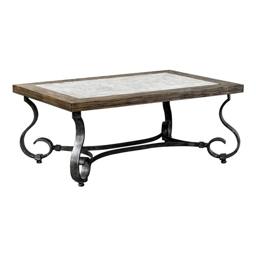Uttermost Mona Light Honey Stained Coffee Table