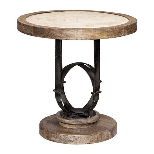 Uttermost Sydney Light Oak Accent Table