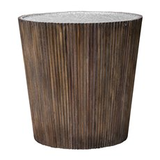 Uttermost Amra Reeded Round Accent Table
