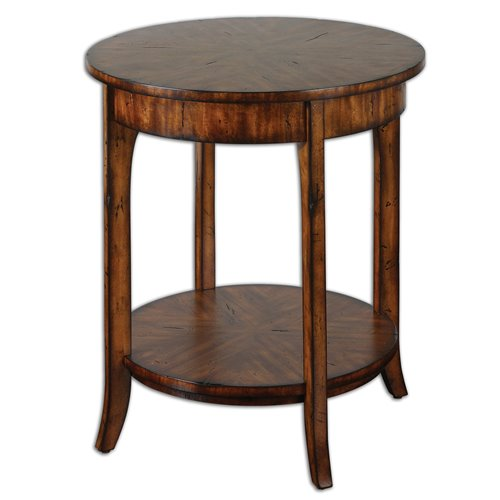 Uttermost Carmel Round Lamp Table