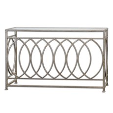 Uttermost Aniya Glass Top Console Table