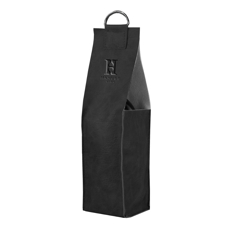Faux Leather Single Bottle Wine Carrier with Logo (set of 60)