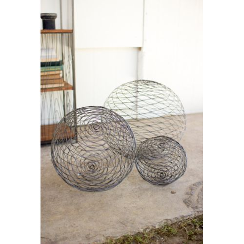 Wild Wire Spheres Set of 3