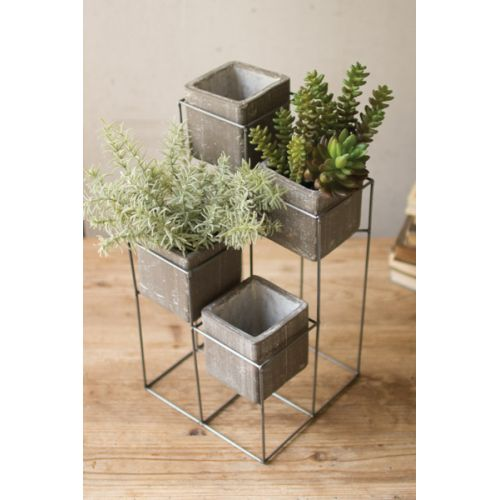 Planter Tower With Four Square Planters
