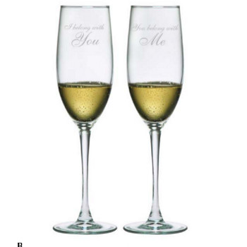 I Belong With You..... Champagne Flutes