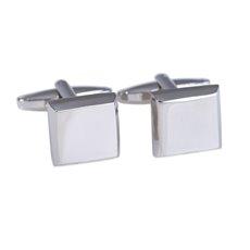 Rhodium Plated Square Cufflinks