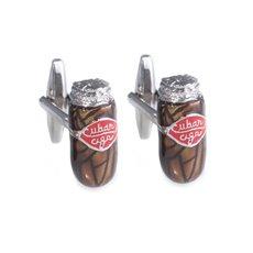 Rhodium Plated Cufflinks with Cigar design