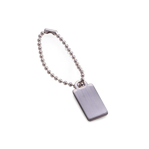 Satin Silver Plated Engraving ID Tag