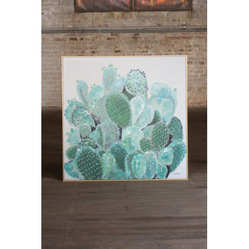 Oil Painting - Cactus With Gold Frame
