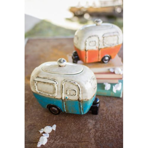 Ceramic Camper Canisters Set of Two
