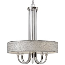 Uttermost Brandon Nickel 5 Light Shade Chandelier