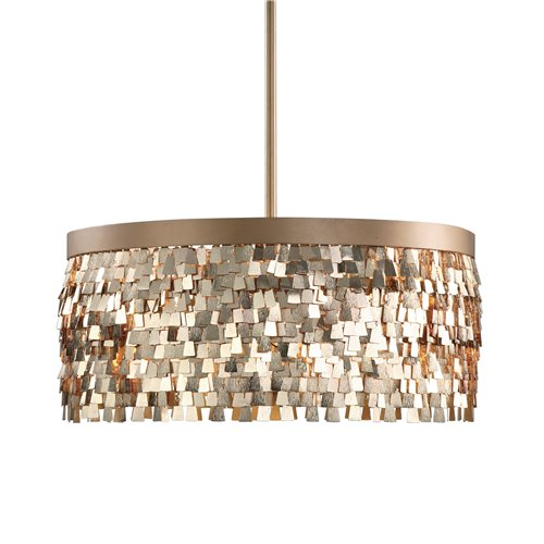 Uttermost Tillie 3 Light Textured Gold Pendant