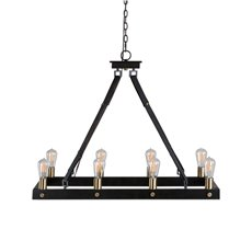 Uttermost Marlow 8 Light Rectangle Chandelier